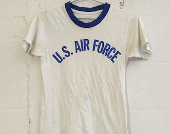 Vintage US Air Force Military Ringer T Shirt S