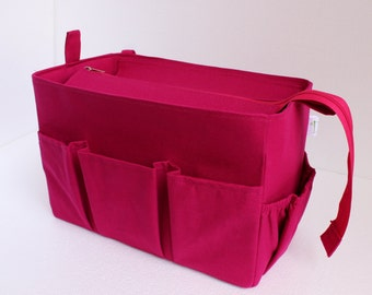 Diaper and Taller Purse organizer to fits Louis Vuitton Neverfull MM with Zipper closure - Bag organizer insert in Pink