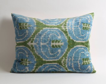 blue velvet pillow, green velvet pillow, blue green pillow, home decor, blue green, green, blue, green pillow, housewares, throw pillows