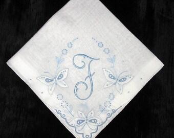 Handkerchief Initial Madeira Wedding Hankerchief Hankie, Bridal Hanky F E G M D J B S H or A