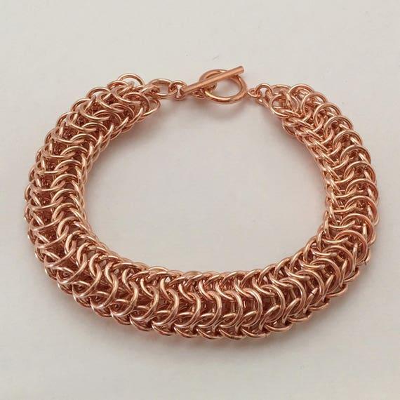 Dragonback bracelet, bright copper