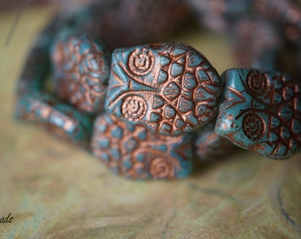 Aqua Blue Owl, Czech Beads, N1764