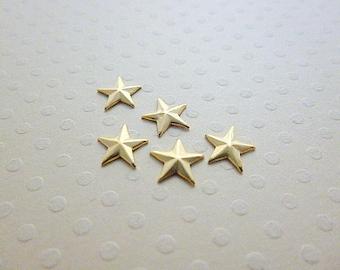 Set of 5 prints 7 mm - PMCD 1084 gold stars