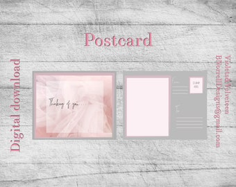 Pink Tulle Series Postcard