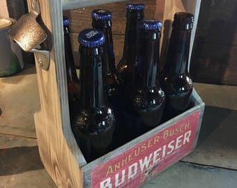 Budweiser 6 pack holder