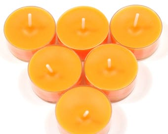 Mango and Lime Handmade Premium Quality Highly Scented 6 Tea Light Candles