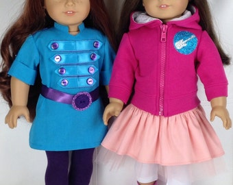 rockstar jacket for little girl and american girl doll