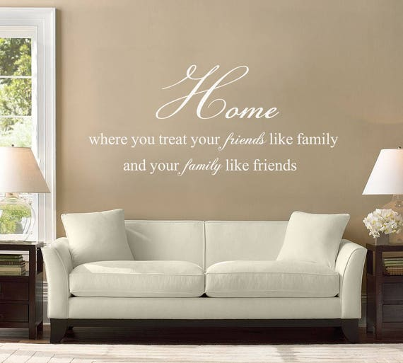 Family Quote Wall Decal, Home Decor, Wall Quotes, Living Room Wall Decor,  Home Wall Decals, Wall Stickers Quotes, Wall Lettering, ID359