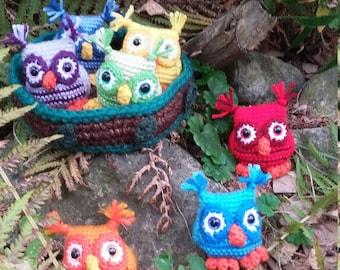 Rainbow Owls Nesting Gift Set/home decor/ stocking stuffer