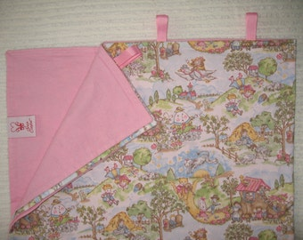Blanket-Nursery Rhymes w/ Pastel Pink Back