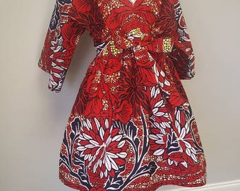 African Print Mini Dress