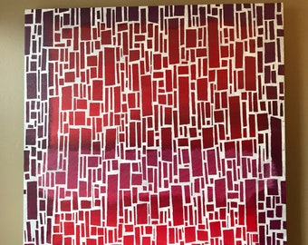 """Embers - 24"""" x 24"""" Acrylic Painting on Canvas"""