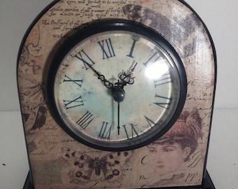 Small clock/ victorian lady