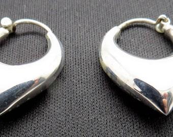 Tribal Earrings 925 Sterling Silver Handmade Ear Hoops