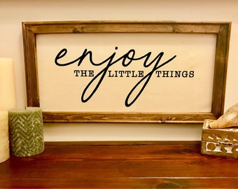 Enjoy the Little Things Canvas | Framed Canvas