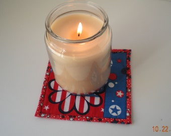 Candle Coasters -set of 2 large