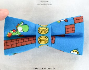 Nintendo Super Mario Bros dog or cat bow tie
