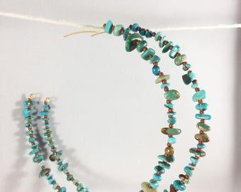 XL Turquoise Hoop Earrings