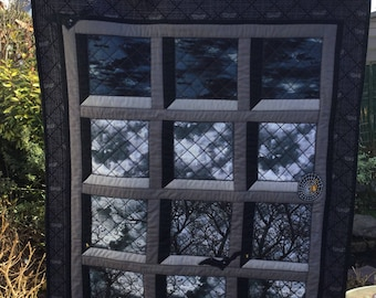 Gothic Window Large Patchwork Wallhanging or Throw