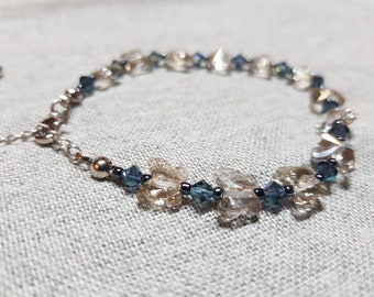 Handmade Swarovski crystal bracelet. One of a kind.
