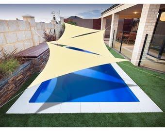 Custom Sized Triangle PU Waterproof Woven Sun Shade Sail - Variant Colors