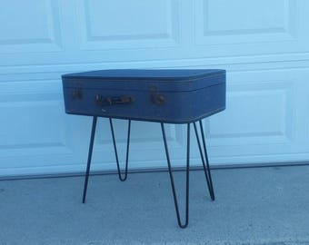 Vintage handmade suitcase table