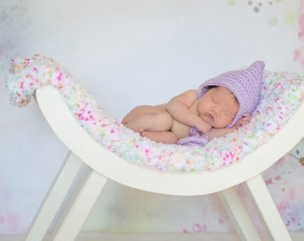 Newborn Baby Girl Hat Newborn Hat Lavender Baby Hat Light Purple Baby Girl Clothes Photo Prop Photography Prop Baby Elf Hat Baby Pixie Hat