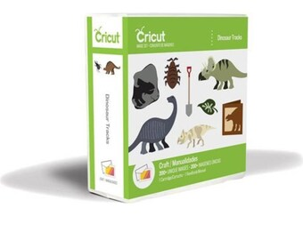 Dinosaur Tracks Cricut cartridge,NEW in box,not linked,dinosaur scrapbooking,dinosaur die cuts,cricut cartridge,dinosaur scrapbooking