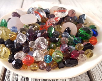 Multicolor Glass Beads Grab Bag Mixed Lot