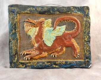 Magical Dragon Art Tile