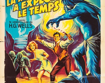 Printable The Time Machine - French - 1960 Vintage Poster