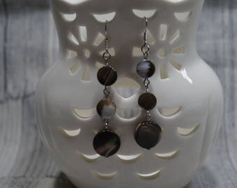 Earrings 'Mother of Pearl ' miracle' Brown