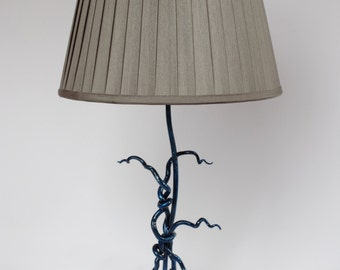 Metal table lamp, abstract
