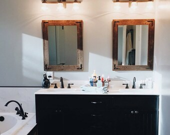 large mirrors for bathroom. Large Mirrors Set, Set Of Mirrors, Wall Mirror, Wood Rustic For Bathroom