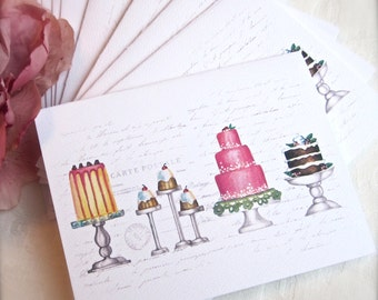 Note Cards-PRETTY CAKES-Set of 6