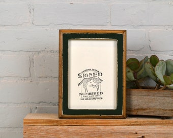 """5x7"""" Picture Frame in 1x1 2-Tone Style and in Finish Color of YOUR CHOICE - 5x7 Photo Frame Wooden Rustic - 5 x 7 Handmade"""