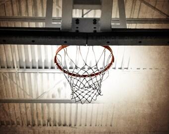 Basketball Hoop Straight On  Photo Print ,Decorating Ideas, Wall Decor, Wall Art, MVP, Kids Room, Nursery Ideas, Gift Ideas,