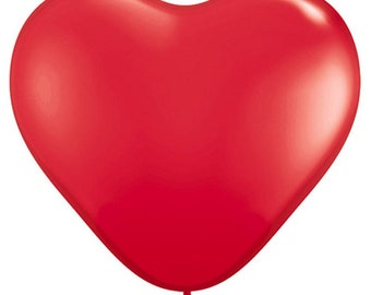 "11"" heart latex balloon- Red"