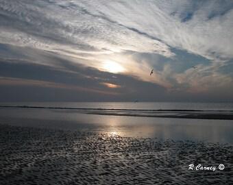 Low Tide, Hilton Head Island, South Carolina, Beach Landscape,Fine Art Photography