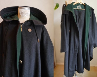 Loden Cape Austrian Luxurious Wool cape GreenLoden Frey Cloak Fashion Tyroler loden