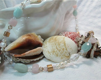 Ocean wishes Necklace with matching Earrings