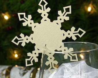 snowflake place cards winter wedding christmas wedding. Black Bedroom Furniture Sets. Home Design Ideas
