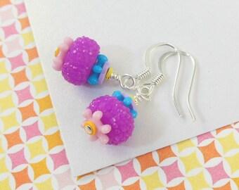 Girls Colorful Earrings   --  Calliope  --  SnoCone
