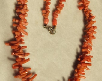 1950's Coral Branch Necklace