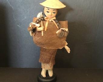Oriental  Lady Worker Doll