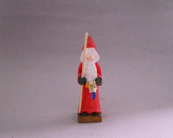 Wood, hand carved, Small, Santa figure.