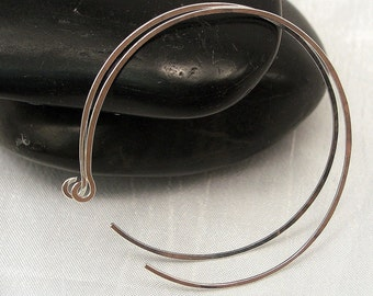 Large Sterling Silver Hoop Earrings, 2.0 inch Silver Hoop Earrings