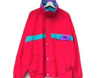Vintage 80s CB Sports Mens XL Micro-Coated Jacket