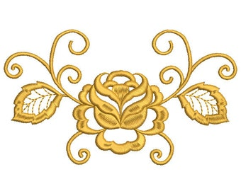 Rose Embroidery Design Flower Pattern Machine