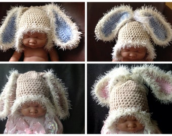 Crochet Bunny Hat,Newborn Bunny hat, Baby Bunny hat, Easter bunny hat, newborn photo prop, girls bunny hat, baby shower gift,baby gift